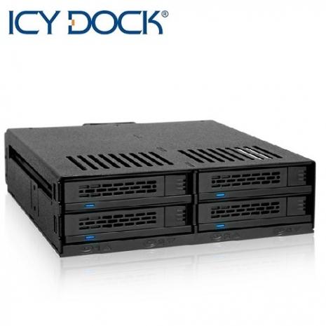 ICY DOCK 2.5吋SAS/SATA/HDD 4bay硬碟抽取盒-MB324SP-B-3C電腦週邊-myfone購物