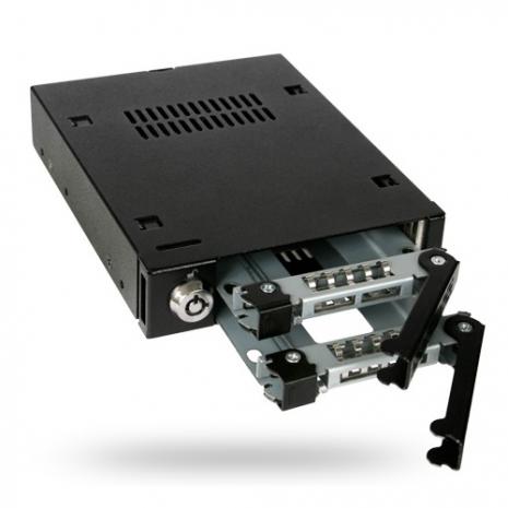 ICY DOCK 雙層2.5吋SATA硬碟抽取盒-MB992SK-B