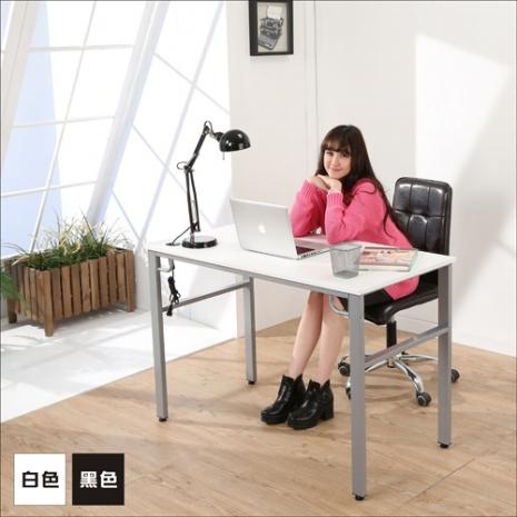 《BuyJM》環保低甲醛仿馬鞍皮面120公分穩重型工作桌/電腦桌二色可選白色