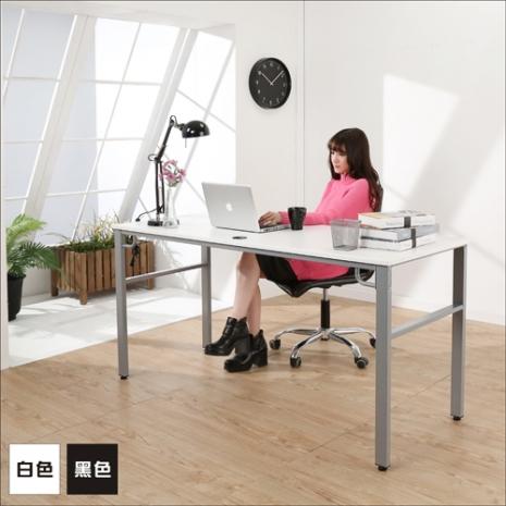 《BuyJM》環保低甲醛仿馬鞍皮面160公分穩重型工作桌/電腦桌/二色可選黑色