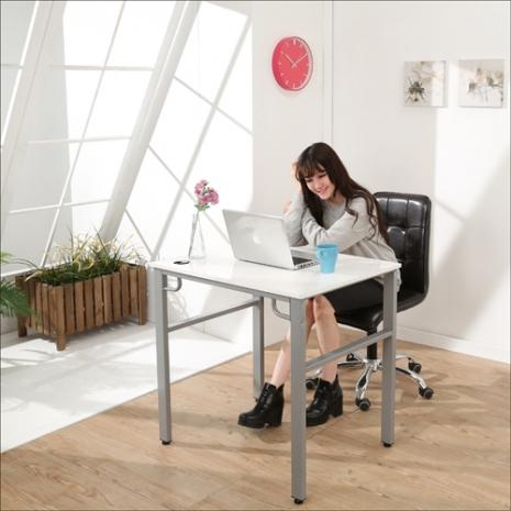 《BuyJM》環保低甲醛鏡面80公分穩重型工作桌/電腦桌