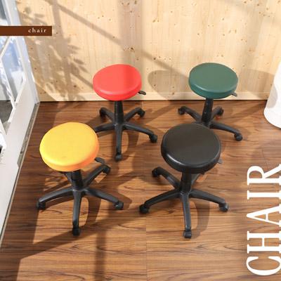 《BuyJM》馬卡龍皮面圓型旋轉椅/四色可選綠色