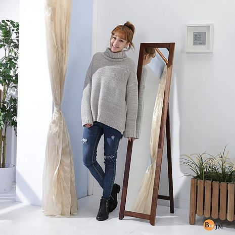 BuyJM 典雅實木穿衣鏡/立鏡(高153公分)