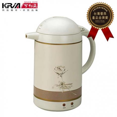 【KRIA可利亞】1.5L自動保溫型迷你電熱水瓶/電水壺/保溫瓶/電壺/快煮壺KR-206-家電.影音-myfone購物