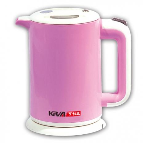【KRIA可利亞】雙層防燙全開口式迷你開水瓶/電水壺KR-1310
