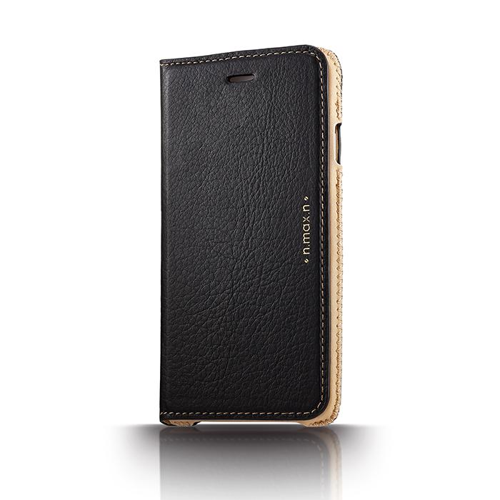 【n.max.n】iPhone 6 PLUS / 6S PLUS / 5.5吋 神秘系列皮革保護套 - 雅致黑