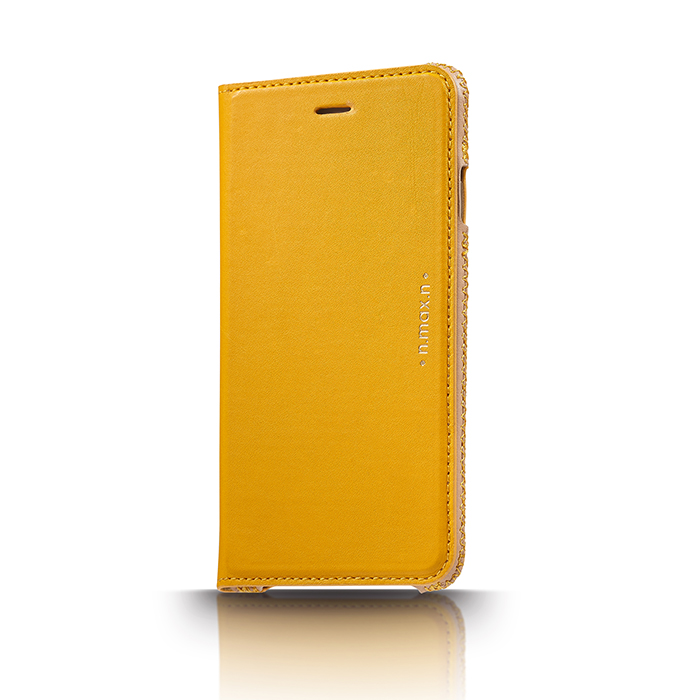 【n.max.n】iPhone 6 PLUS / 6S PLUS / 5.5吋 神秘系列皮革保護套 - 小鴨黃