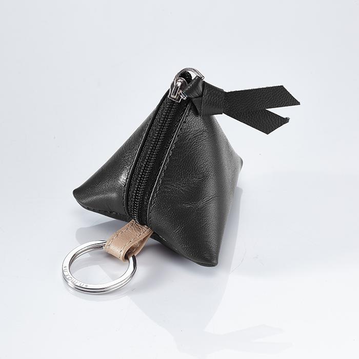 【n.max.n】3C3角時尚收納皮革小包 -  雅緻黑