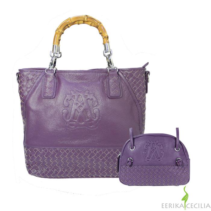 【EERIKA CECILIA】皇家工藝編織包-紫/深褐任選