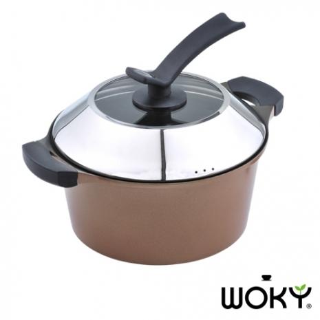 WOKY沃廚-藏金鑄造經典26CM雙耳湯鍋
