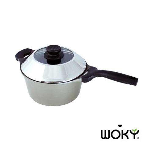 WOKY沃廚懷舊媽媽味22CM不沾單柄湯鍋