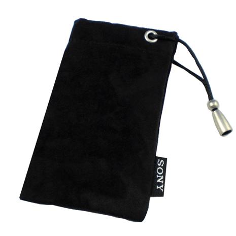 SONY原廠麂皮質感絨布手機束口收納袋