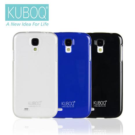 KUBOQ Samsung Galaxy S4 TPU保護殼(2入組)藍+黑