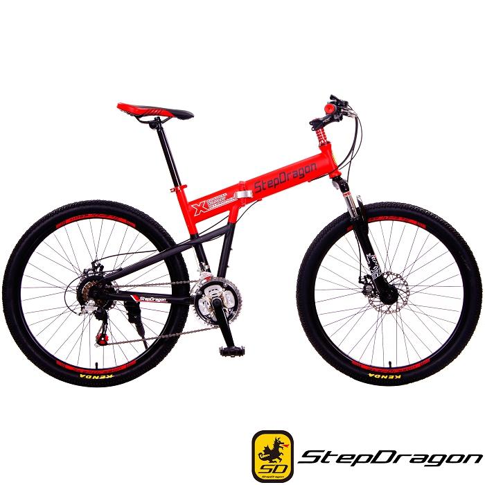 【StepDragon】SMS-H601 大悍馬 日本Shimano 26吋21速折疊車狂草綠