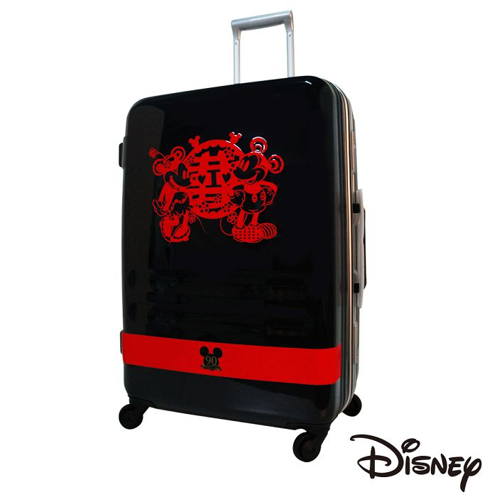 【日本 Disney】迪士尼90週年紀念 27吋 PC 拉桿 360度靜音輪 輕量 行李箱 - 囍字