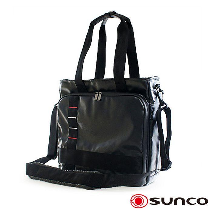 【日本 SUNCO】都會雅痞 35cm 防水 多功能 公事包 / 手提- 黑色