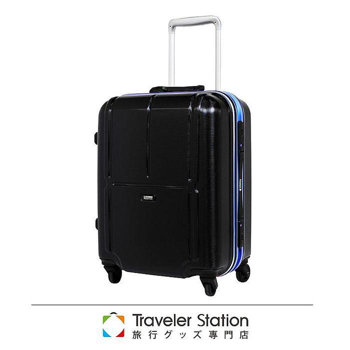 【日本Traveler Station】19吋 PC 鋁框拉桿 超靜音輪 行李箱 -深藍框