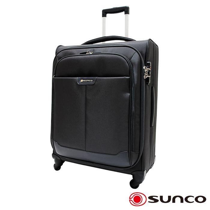 【日本 SUNCO】日本設計 19.5吋 Polyester 拉鍊拉桿 公文 拉桿箱 / 旅行 -灰