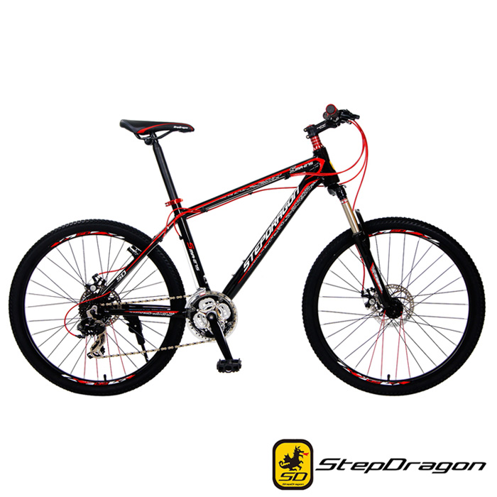 【StepDragon】 SMA-900 日本 Shimano 27速 鋁合金碟煞登山車黑紅