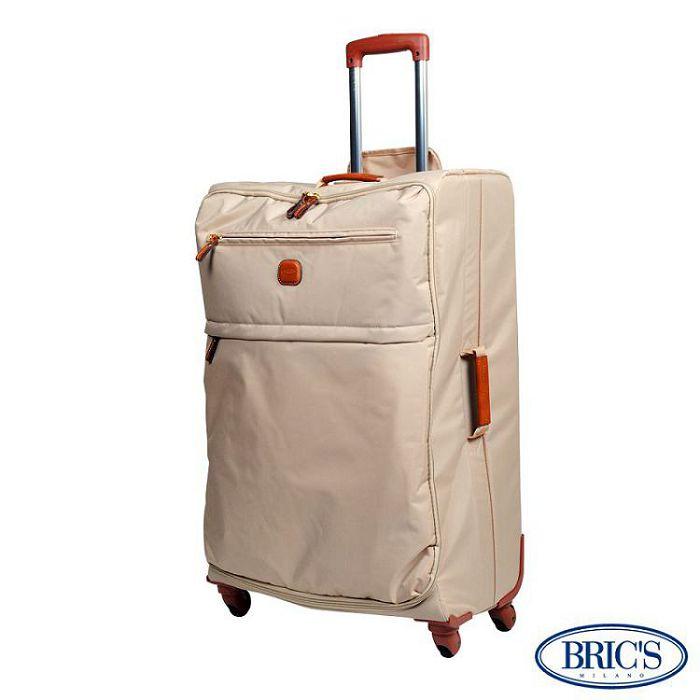 【米蘭 BRICS】30吋 PVC 防水 極輕寬敞 伸縮拉桿 行李箱 / 旅行箱 - 卡其色