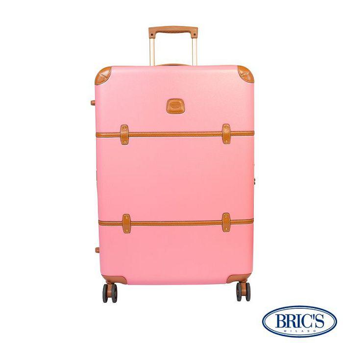 【米蘭 BRICS】優雅時尚 20吋 PC 牛皮 拉鍊拉桿 雙橡膠車輪 行李箱 - 粉紅