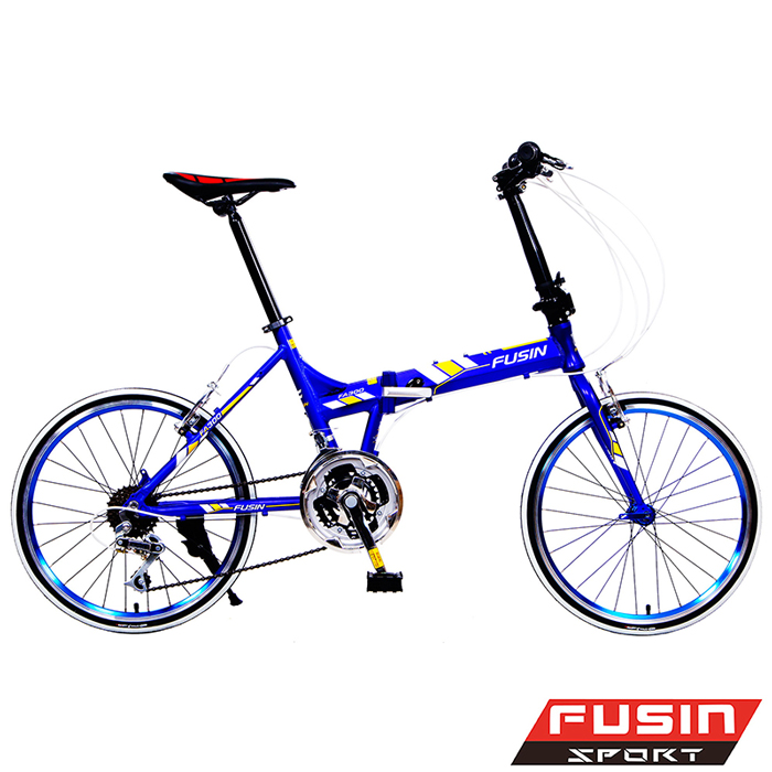 【FUSIN】FA300A+鋁合金20吋21速451陽極輪圈搭配CST彩胎折疊車白紅