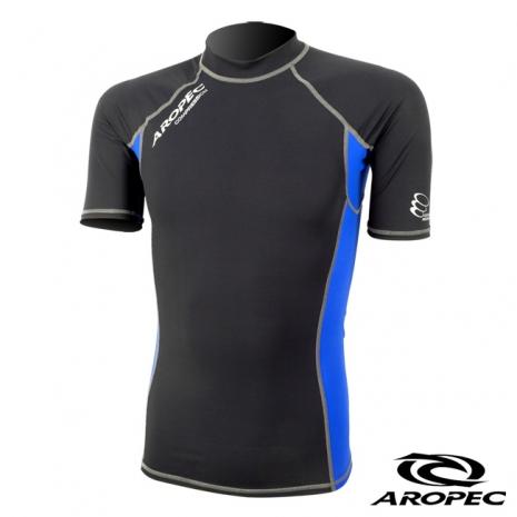 【AROPEC】機能型短袖壓力衣男款 藍XS