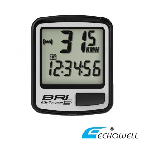 ECHOWELL BRI-5 多功能自行車有線碼錶 銀-戶外.婦幼.食品保健-myfone購物