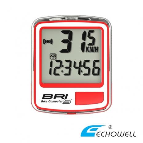 ECHOWELL BRI-5 多功能自行車有線碼錶 紅-戶外.婦幼.食品保健-myfone購物
