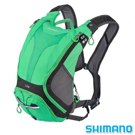 SHIMANO UNZEN 登山車水袋後背包15L 深灰綠