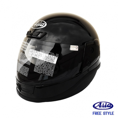「ASIA A801」 FreeStyle 全罩式安全帽 黑XL