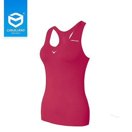 CABALLERO 女性壓縮跑步運動內衣 長版桃紅