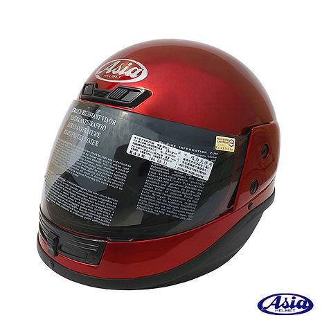 ASIA FreeStyle A801 全罩式安全帽 酒紅XL