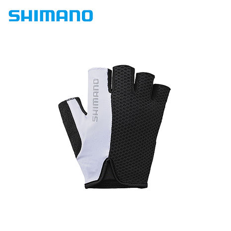 SHIMANO AIRWAY 自行車運動半指手套 黑/白(男用) XL