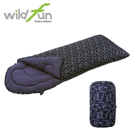 WildFun 野放加大型舒適睡袋 印花