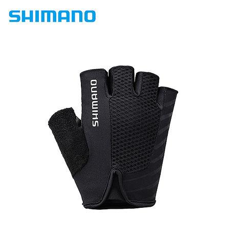 SHIMANO TOURING 自行車運動半指手套 男用 黑色L