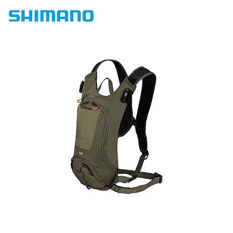 SHIMANO UNZEN 登山車後背包-無水袋 2L 橄欖綠