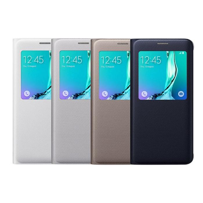 Samsung Galaxy S6 edge+ 原廠透視感應皮套藍黑