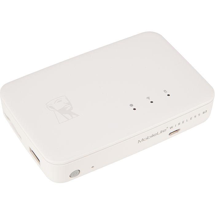 Kingston 金士頓 MobileLite Wireless G3 無線讀卡機 / 可當行動電源 / 支援SD USB Wi-Fi 分享 (MLWG3)