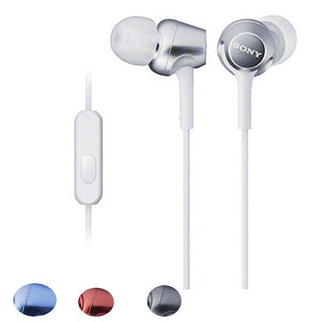 【平行輸入品】SONY 智慧型手機專用耳機 MDR-EX250 AP藍