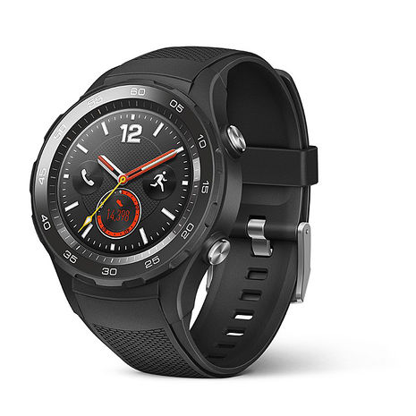 【10/19前 領券現折$1000】Huawei 華為 Watch 2 【4G版】 可通話智慧手錶(支援Nano SIM卡) 黑色錶帶