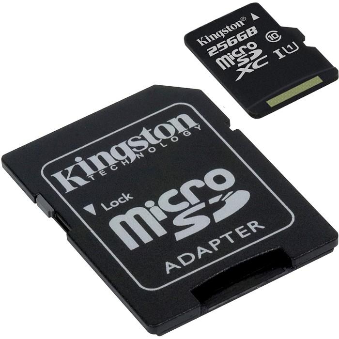 Kingston 金士頓 SDCS/256GB Canvas Select microSDXC 高速記憶卡