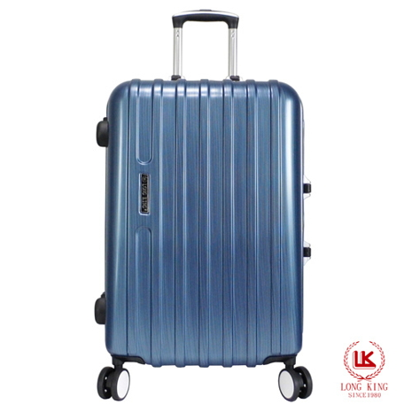 【LONG KING】28吋PC鏡面硬殼鋁框行李箱(LK-8007)灰色