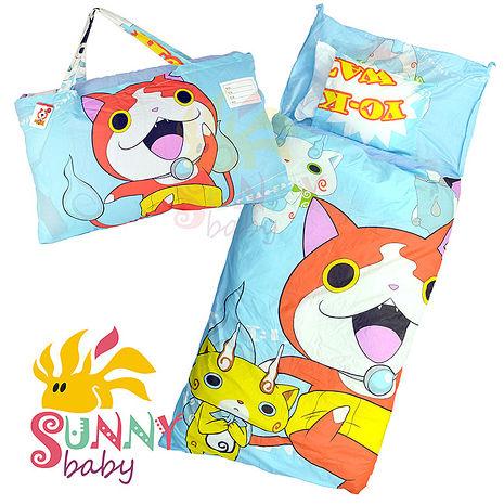 活動-卡通造型幼教兒童睡袋-妖怪手錶-(贈浴室蠟筆)