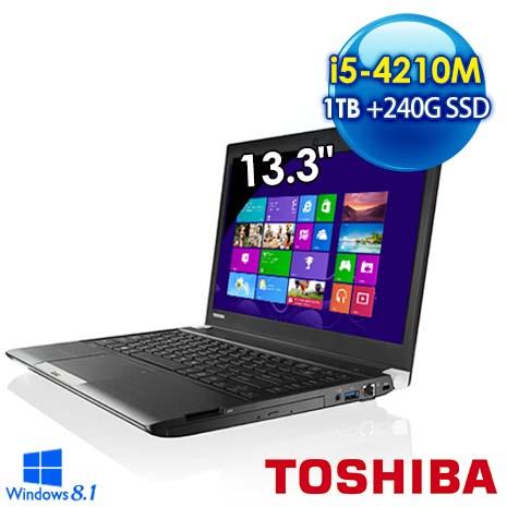 Toshiba R30-A 240G超值雙碟版 13.3吋筆電 (i5-4210M/8G/1TB+240G/WIN8.1/黑)-數位筆電.列印.DIY-myfone購物