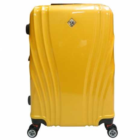 【RAINDEER】天使之翼24吋PC鏡面隱藏式TSA海關鎖行李箱香檳金