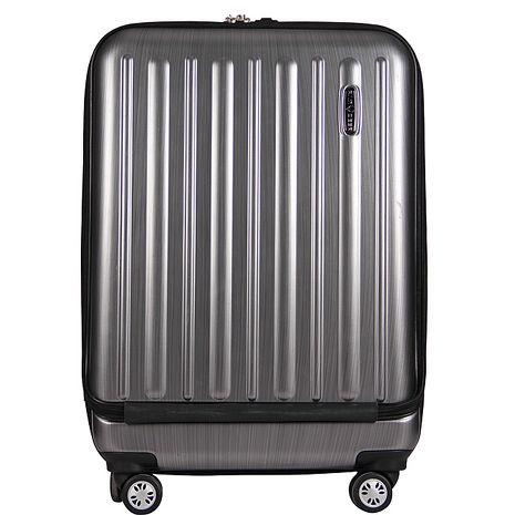 【RAIN DEER】24吋時尚拉絲紋PC+ABS霧面拉桿行李箱香檳金