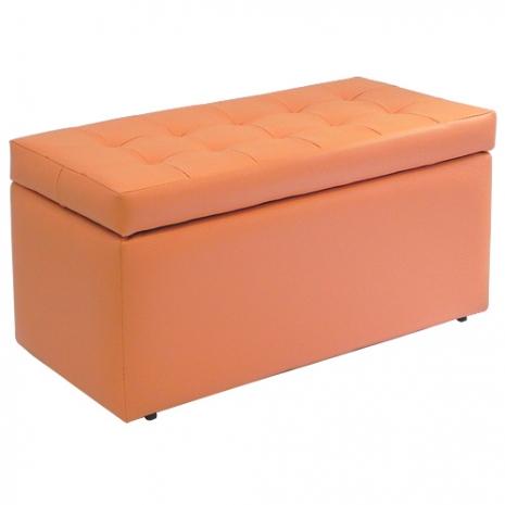 MYHOUSE摩登客廳收納椅 2入咖啡色
