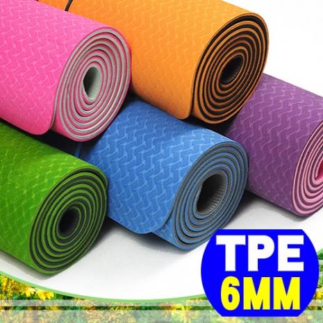【SAN SPORTS 山司伯特】環保TPE 6MM雙色瑜珈墊(加長版)粉