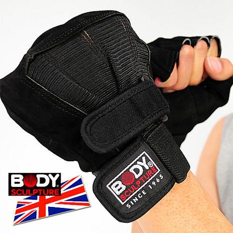 【BODY SCULPTURE】BW-86 絨面皮革健身手套L